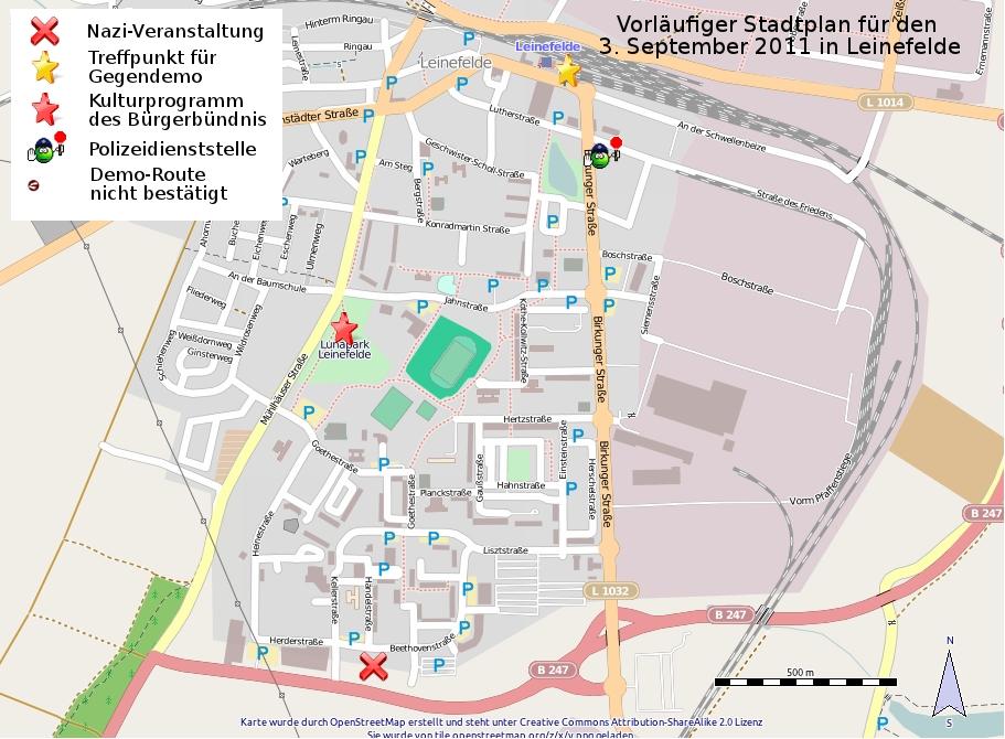 Stadtplan Leinefelde